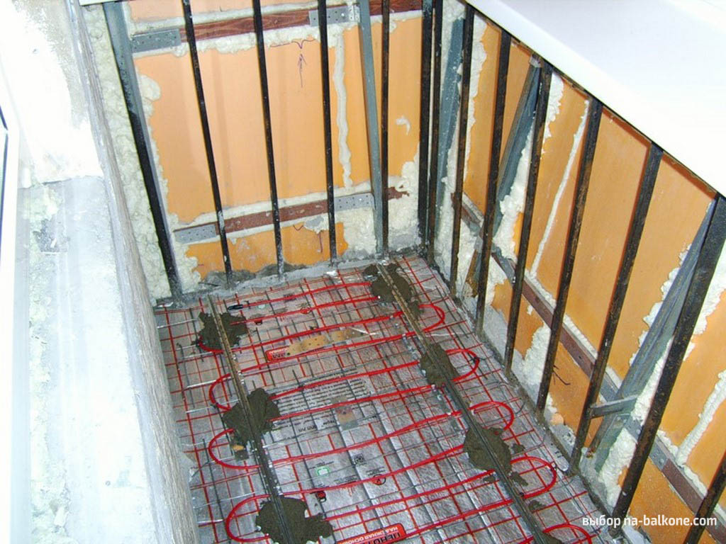 Теплый пол на балконе своими руками - особенности и монтаж (.