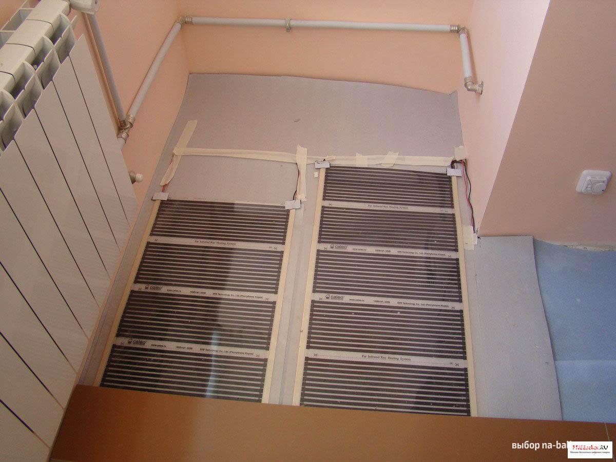 Теплый пол на балконе или лоджии: инфракрасный, электрически.