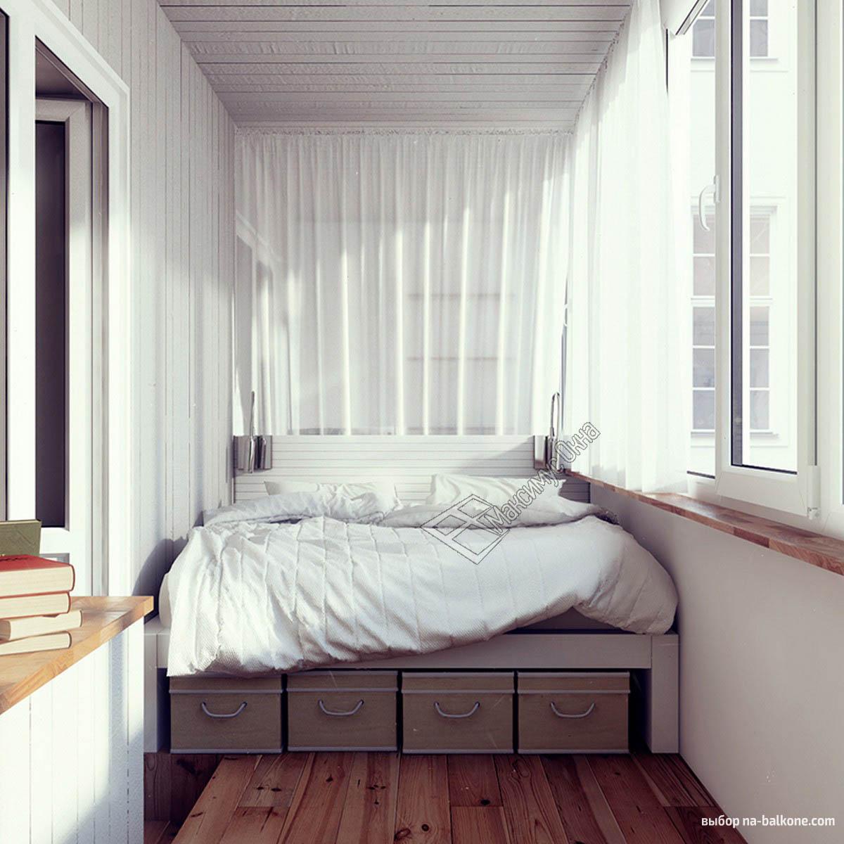 Спальное место на балконе и лоджии. фото и видео с примерами.