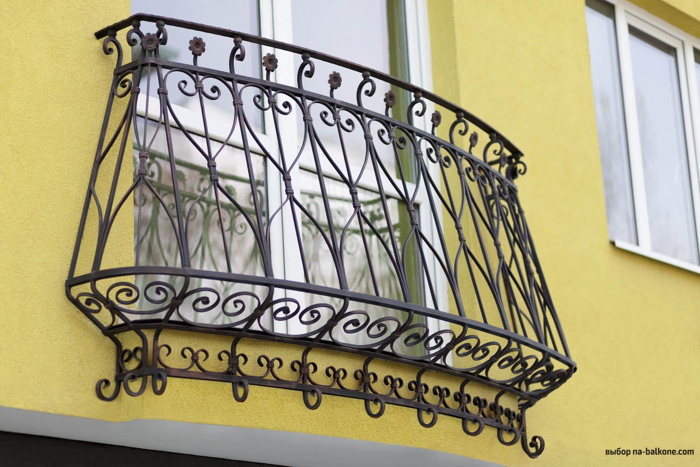 Кованые перила на балкон - всё о балконе.