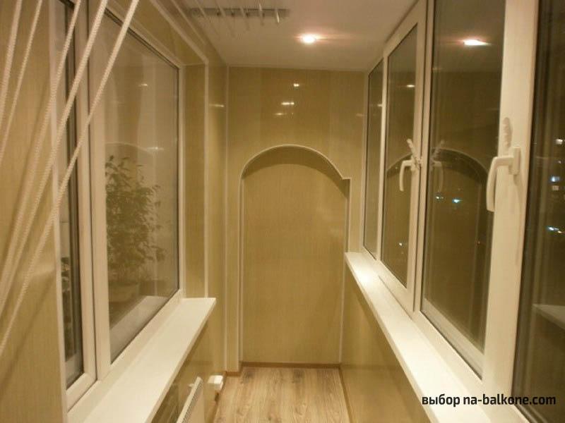 Отделка балкона пластиковыми панелями на примере (32 фото).
