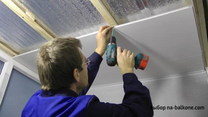 Пример отделки балкона пластиковыми панелями своими руками. Пошаговые фото