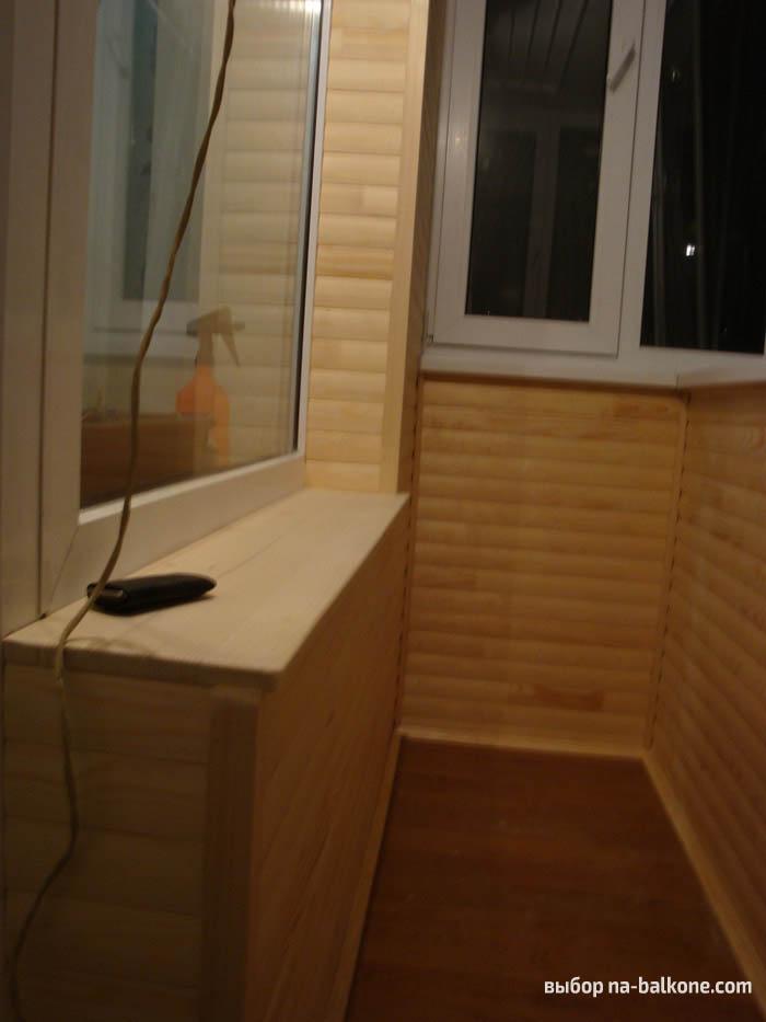 Блок-хаус для балкона: как обшить своими руками, фото и виде.