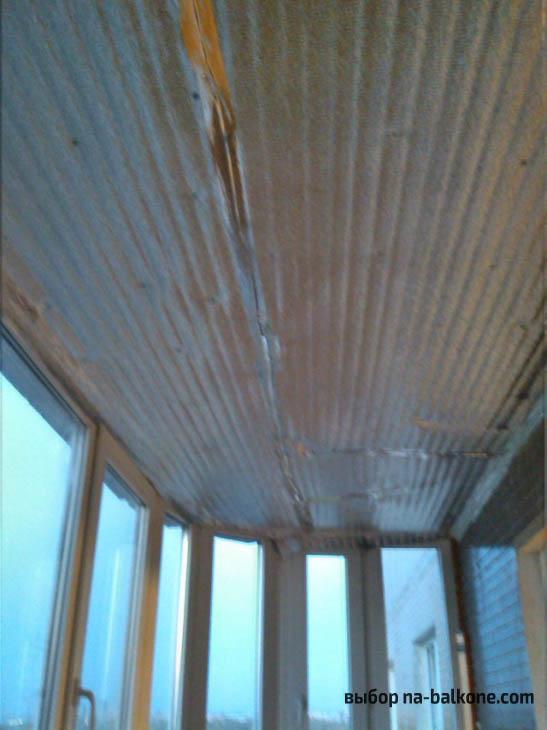 Утепление балкона пеноплэксом и отделка пластиковыми панелями «под дерево»