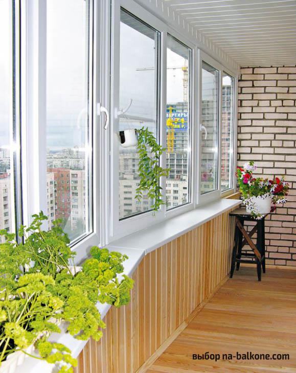 48 вариантов отделки балкона внутри