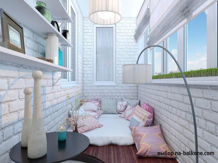 Ремонт балкона внутри