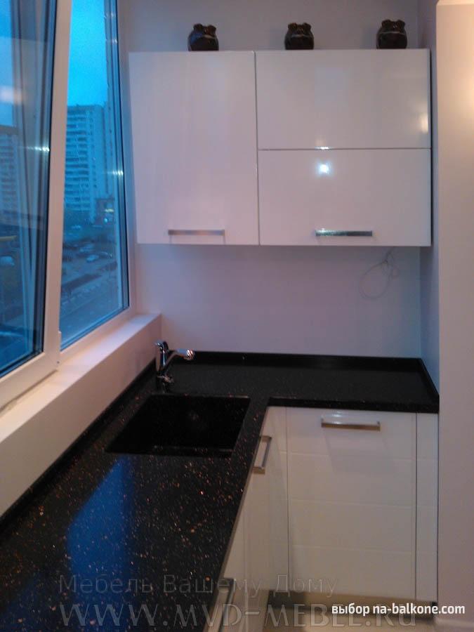 Кухня на балконе - дизайн (20 фото).