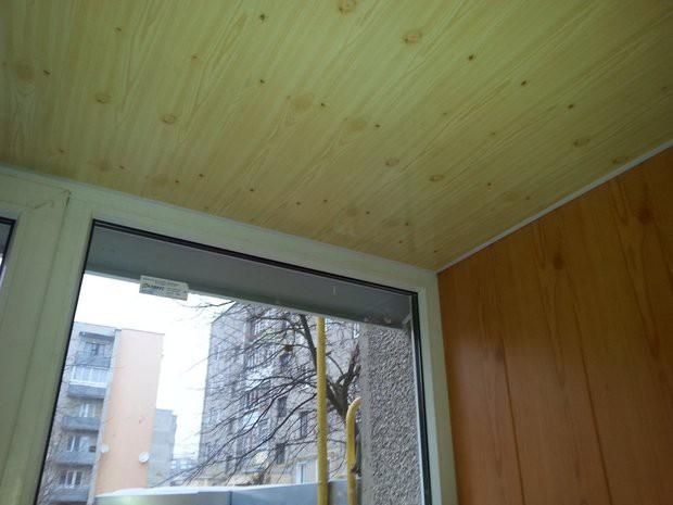 Бюджетная отделка балкона 2,7 кв.м панелями МДФ под дерево