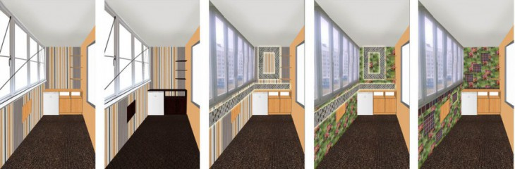 Ремонт и утепление лоджии со встроенной мебелью за $1300