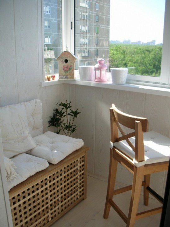 Диван на балконе своими руками (простые идеи и дизайнерские советы)