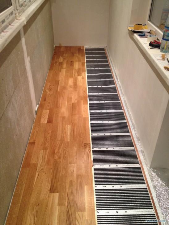 Теплый пол на балконе (разновидности и особенности монтажа)